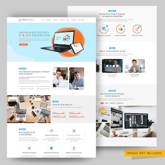 Agência criativa e modelo de página da web de marketing de negócios
