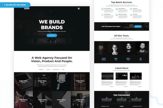 Agência da web focada no design da página do site vision