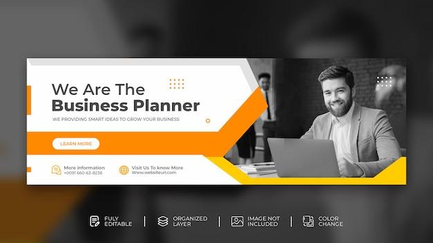 Agência de marketing digital promoção de negócios corporativos modelo de capa do facebook psd grátis
