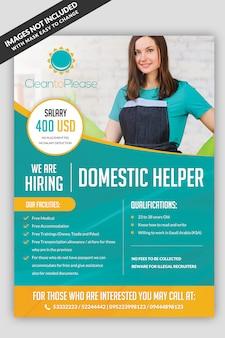 Ajudante de contratação maid flyer