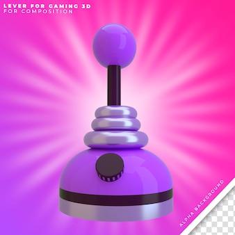 Alavanca do joystick 3d para o jogo