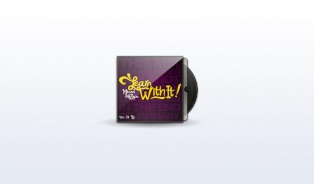 Álbum da tampa do disco gravar som de música