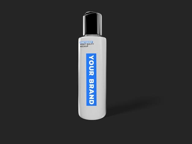 Álcool gel corona virus mockup 3d rendering design