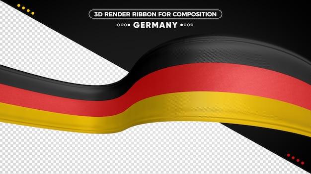 Alemanha fita 3d com cores de bandeira