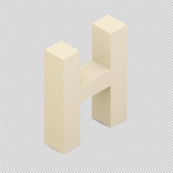 Alfabeto isométrico 3d isolado render