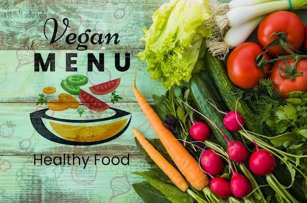Alimentos feitos de vegetais orgânicos
