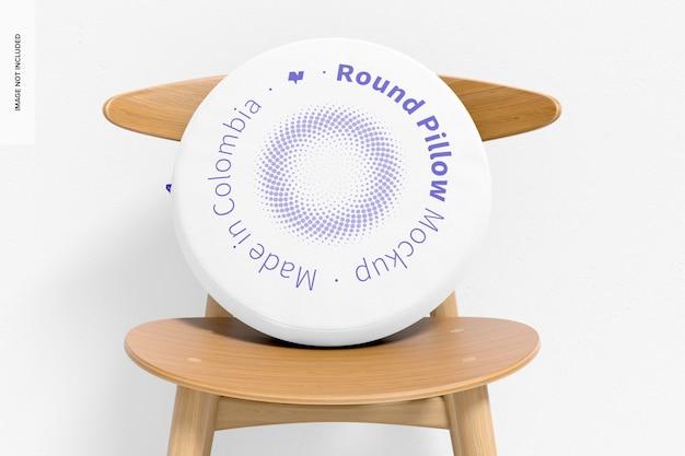 Almofada redonda com maquete de cadeira