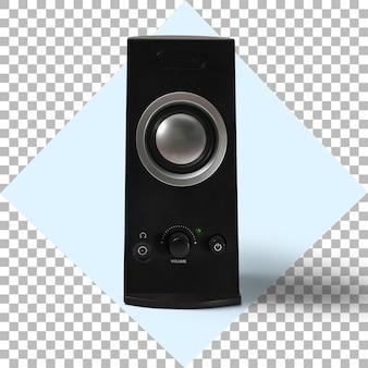 Alto-falante de áudio sobre fundo transparente