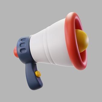 Alto-falante megafone 3d