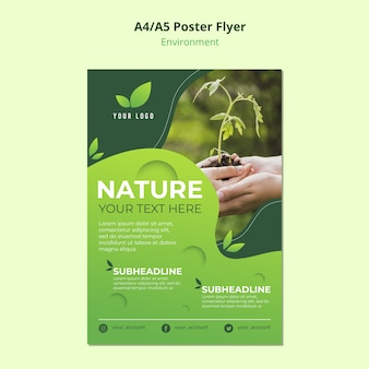 Ambiente da natureza para o modelo de cartaz