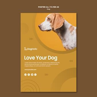 Ame seu design de cartaz de cachorro