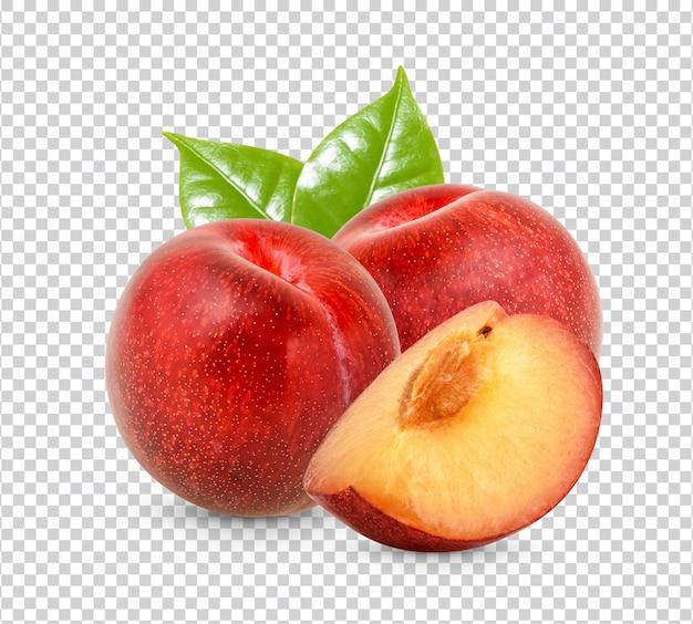 Ameixa vermelha fresca isolada premium psd