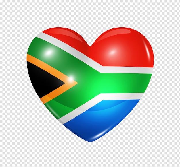 Amo a áfrica do sul, ícone de bandeira do coração