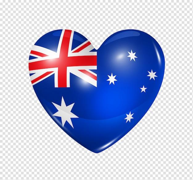Amo a austrália, ícone de bandeira do coração