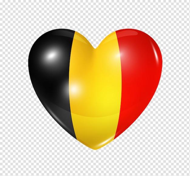 Amo a bélgica, ícone de bandeira do coração