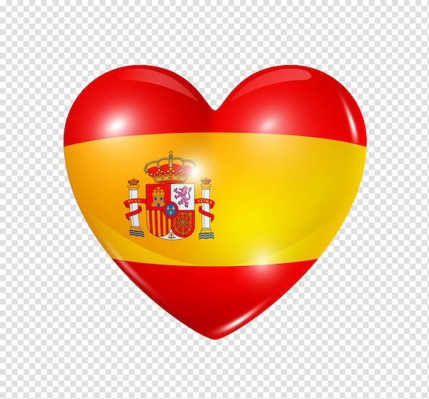 Amo a espanha, símbolo da bandeira do coração