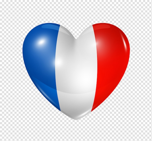 Amo a frança, ícone de bandeira do coração