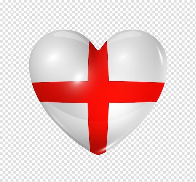 Amo a inglaterra, ícone de bandeira do coração