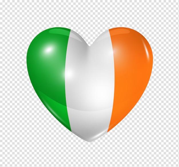Amo a irlanda, ícone de bandeira do coração