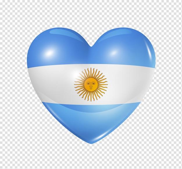 Amo argentina, ícone de bandeira do coração