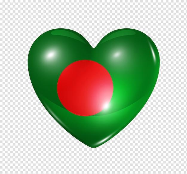 Amo bangladesh, símbolo da bandeira do coração