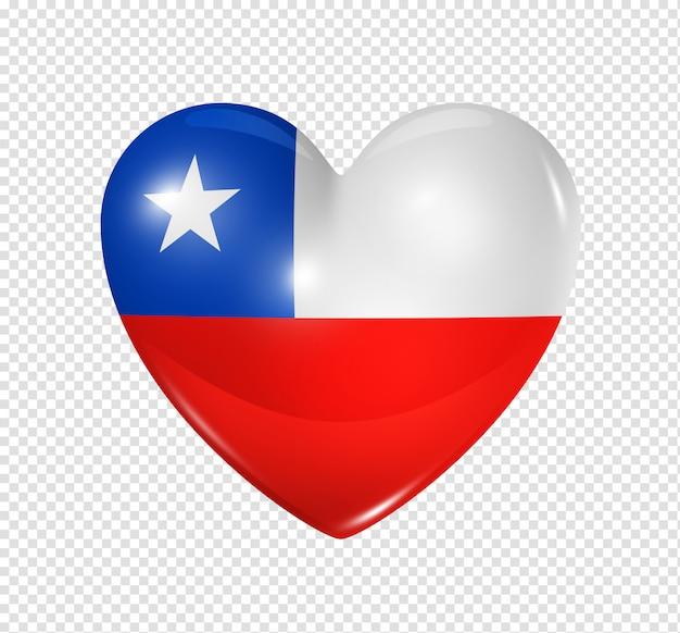 Amo o chile, ícone de bandeira do coração
