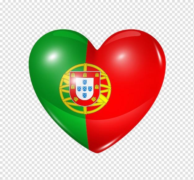 Amo portugal, ícone de bandeira do coração