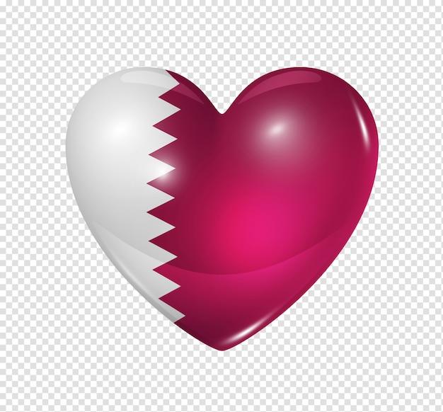 Amo qatar, ícone de bandeira do coração