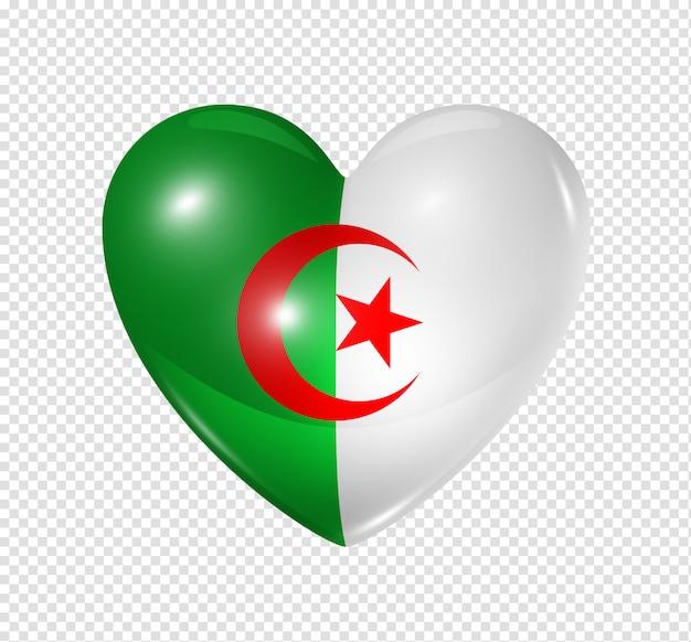 Amor argélia, ícone de bandeira do coração