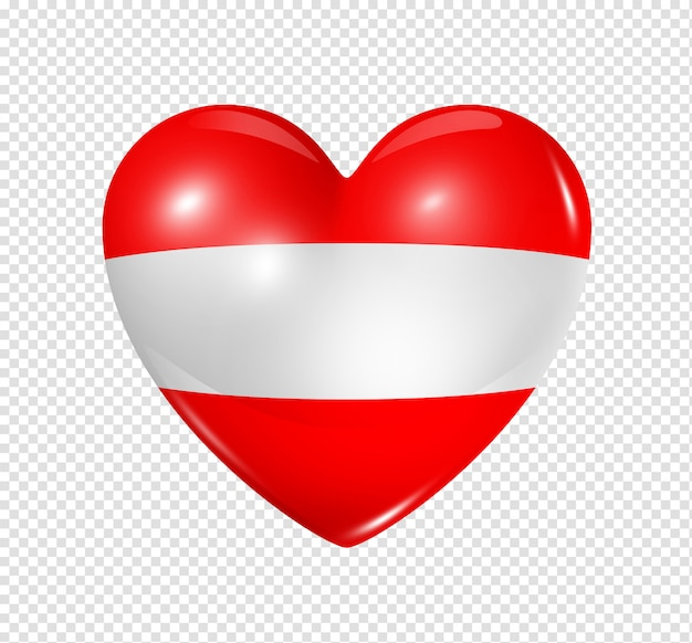 Amor áustria, símbolo da bandeira do coração