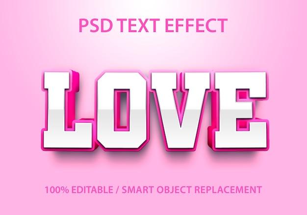 Amor com efeito de texto editável