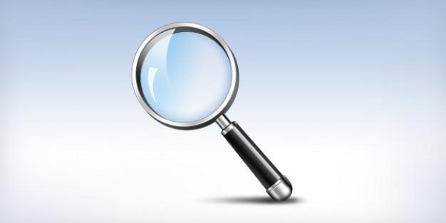 Ampliando o ícone de pesquisa de vidro
