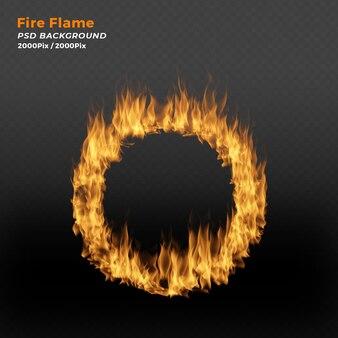 Anel de fogo em fundo preto
