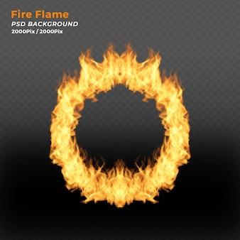Anel de fogo no fundo