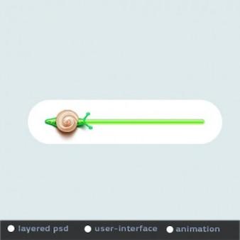 Animado barra de progresso verde