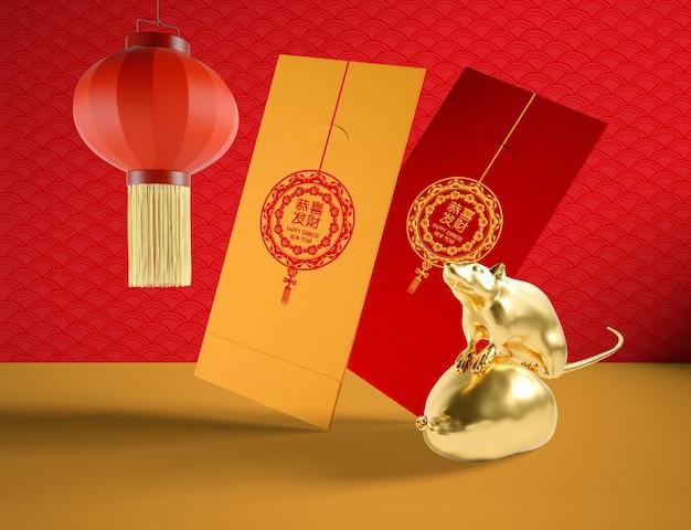 Ano novo chinês do conceito artístico