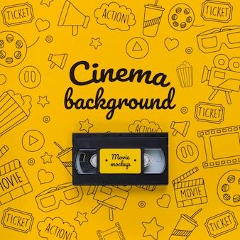 Antigo conceito de fundo de cinema de fita