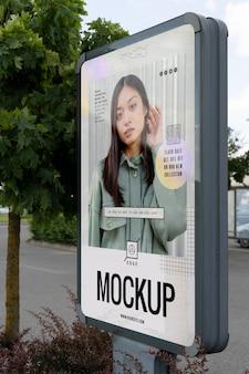 Anúncio da rua lá fora