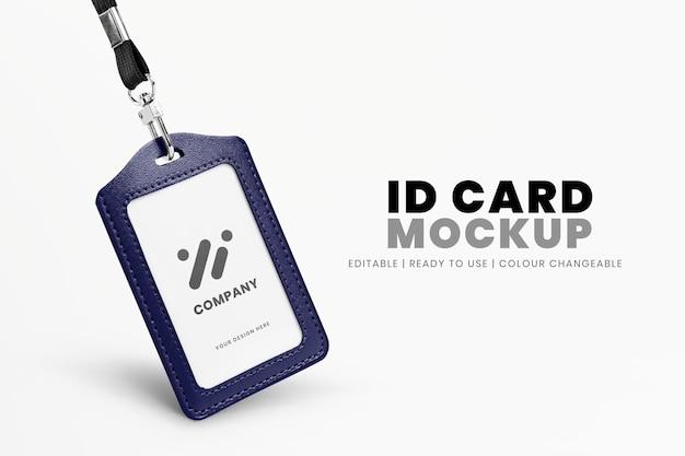 Anúncio de cartão de identificação editável