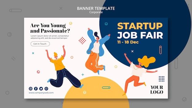 Anúncio de contratação de modelo de banner