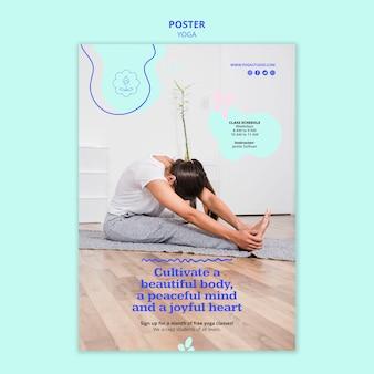 Anúncio de ioga modelo de folheto