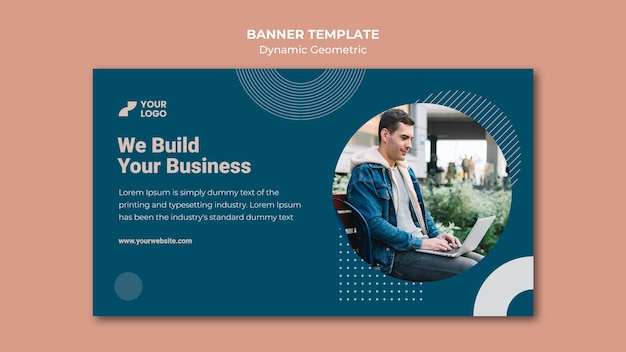 Anúncio empresarial modelo de banner