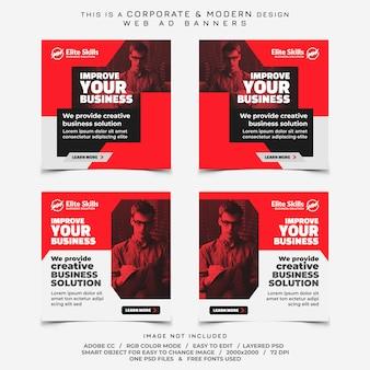 Anúncios de banners de empresas