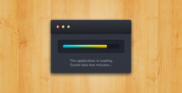 Aplicação de carga de aplicativos da apple carregado carregamento mac osx janela