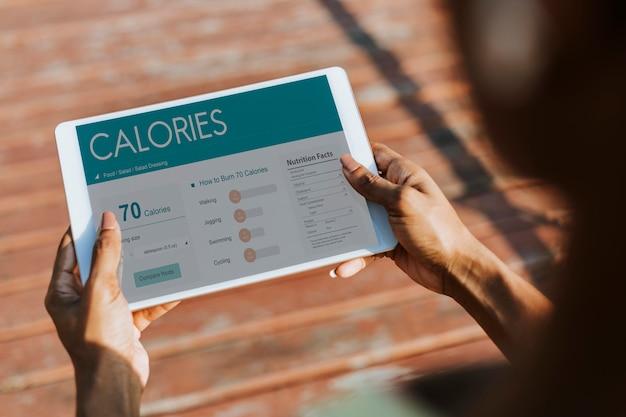 Aplicação de medição de calorias