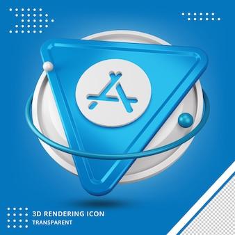 Aplicativo da appstore em logotipo 3d