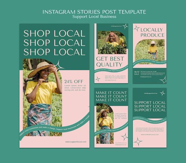 Apoie histórias de instagram de empresas locais