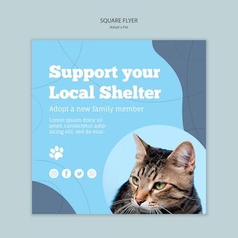 Apoie seu modelo de abrigo local
