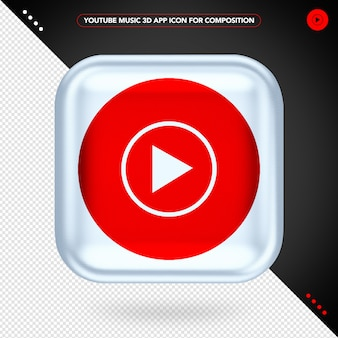 App de música do youtube 3d para composição