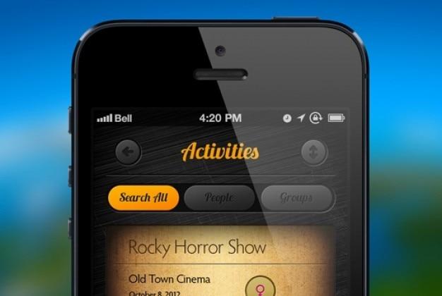 App design em estilo retro